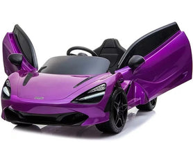 Purple | 12V Licensed Mclaren Kid Car with Touchscreen TV and Parental Remote