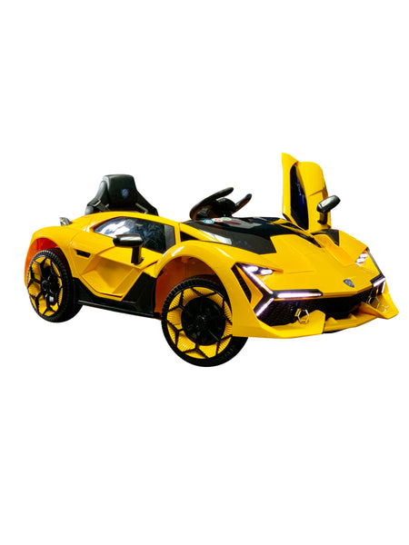 Lamborghini Style Kids Car with Parental Remote Control 12V | Yellow