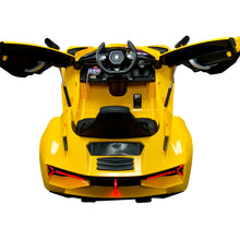 Load image into Gallery viewer, Lamborghini Style Kids Car with Parental Remote Control 12V | Yellow - Shop Remote control kids electric cars & motorcycles