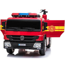 Load image into Gallery viewer, Jr Firetruck Ride on for Kids with Parental Remote Control 12V | Red