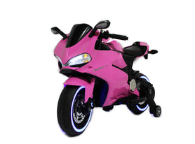 Pink | Elecric Ride on Motorcycle with LED Lights 12V - Shop Remote control kids electric cars & motorcycles