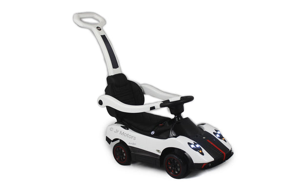 White | 3-in-1 Licensed Pagani Convertible Electric Push-Car