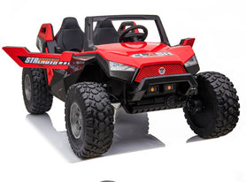 24V XL Extreme 4x4 Ride on UTV with Touchscreen TV and Off-Road EVA Wheels-Red