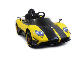 Yellow | 2019 Licensed Pagani Special Edition RC Kids Car with Touchscreen TV - Shop Remote control kids electric cars & motorcycles