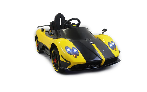 Yellow | 2019 Licensed Pagani Special Edition RC Kids Car with Touchscreen TV
