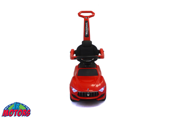 Red | 3-in-1 Maserati 6V Electric Push Car