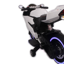 Load image into Gallery viewer, White | Electric Ride on Motorcycle with LED light - Shop Remote control kids electric cars & motorcycles
