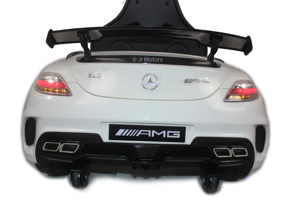 Load image into Gallery viewer, White | Mercedes SLS with Touchscreen TV, RC, Electric Ride on Car - Shop Remote control kids electric cars & motorcycles