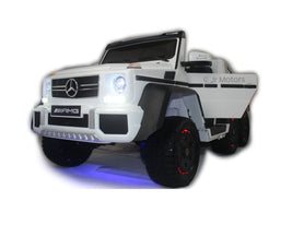 White | Mercedes Benz AMG G63 6x6 Truck (Fully Loaded) - Shop Remote control kids electric cars & motorcycles