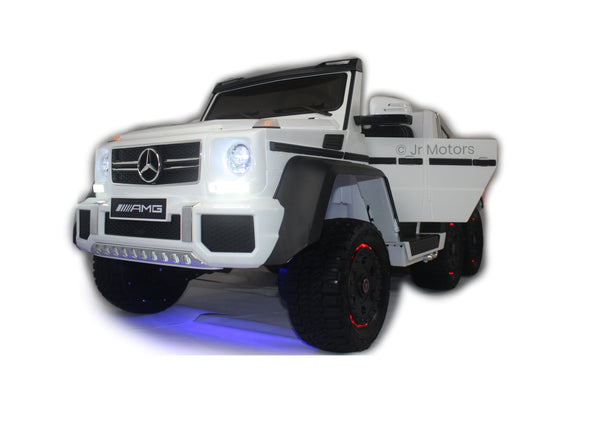 White | Mercedes Benz AMG G63 6x6 Truck (Fully Loaded)