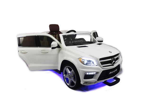 White | Licensed Mercedes GL 63 with MP3 Player RC Electric Ride on Car