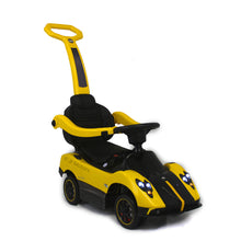 Load image into Gallery viewer, Yellow | 3-in-1 Licensed Pagani Convertible Electric Push-Car - Shop Remote control kids electric cars & motorcycles