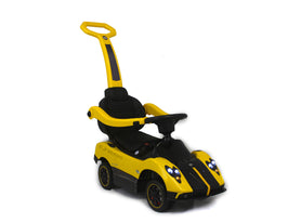 Yellow | 3-in-1 Licensed Pagani Convertible Electric Push-Car - Shop Remote control kids electric cars & motorcycles