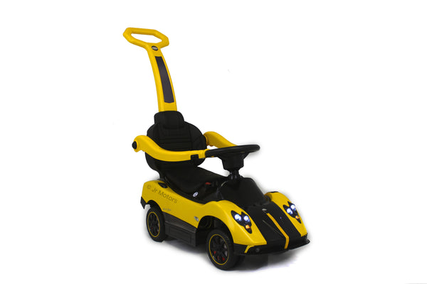 Yellow | 3-in-1 Licensed Pagani Convertible Electric Push-Car