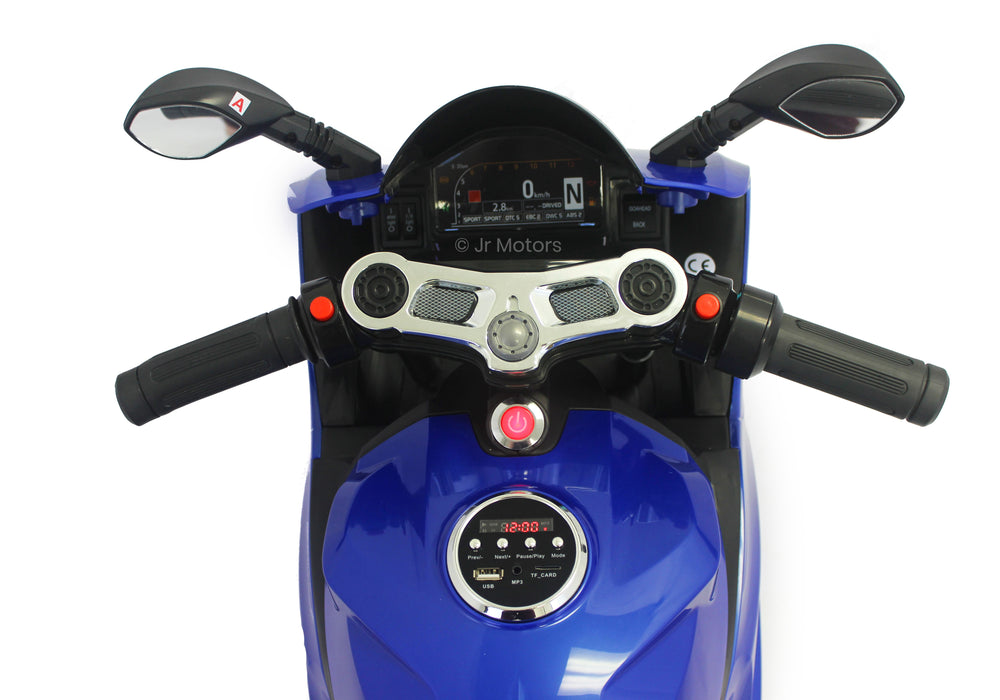 Load image into Gallery viewer, Blue | Electric Ride on Motorcycle With LED Lights 12V - Shop Remote control kids electric cars & motorcycles
