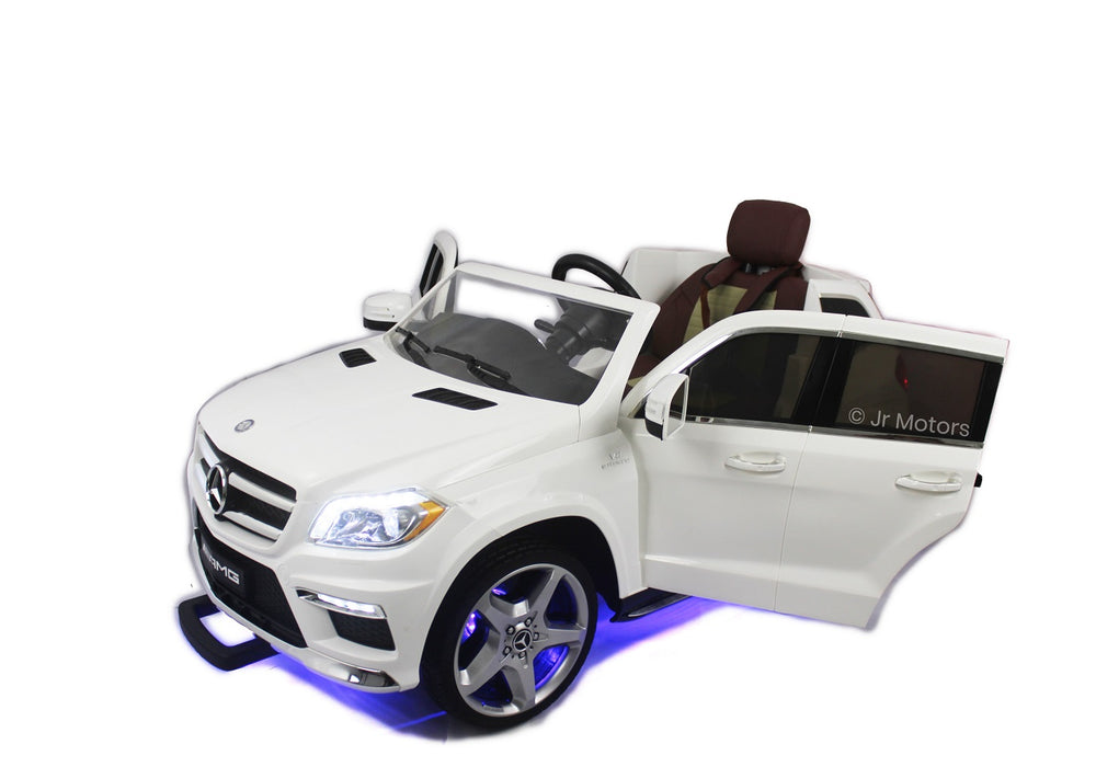 Load image into Gallery viewer, White | Licensed Mercedes GL 63 with MP3 Player RC Electric Ride on Car - Shop Remote control kids electric cars & motorcycles
