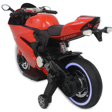 Load image into Gallery viewer, Red | Electric Ride on Motorcycle with LED lights - Shop Remote control kids electric cars & motorcycles