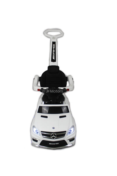 White | Licensed Mercedes Benz Push Ride on Cars for Toddlers