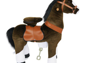 Dark Brown | Ride on Horse with Sounds - Shop Remote control kids electric cars & motorcycles