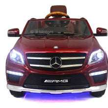 Load image into Gallery viewer, Candy Red Licensed Mercedes GL63 w/ Integrated MP3 Player RC Ride on Car - Shop Remote control kids electric cars & motorcycles