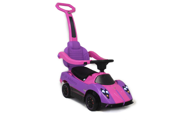 Purple  3-in-1 Licensed Pagani Convertible Electric Push-Car