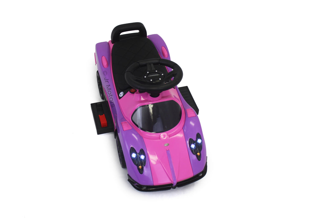 Load image into Gallery viewer, Purple  3-in-1 Licensed Pagani Convertible Electric Push-Car - Shop Remote control kids electric cars & motorcycles