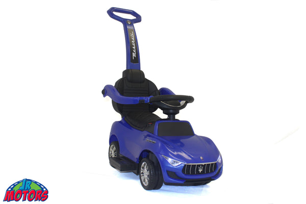 Blue | 3-in-1 Maserati 6V Electric Push Car