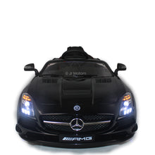 Load image into Gallery viewer, Black | Licensed Metallic Mercedes RC Electric Ride on Car with Touch Screen TV - Shop Remote control kids electric cars & motorcycles