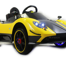 Load image into Gallery viewer, Yellow | 2019 Licensed Pagani Special Edition RC Kids Car with Touchscreen TV - Shop Remote control kids electric cars & motorcycles