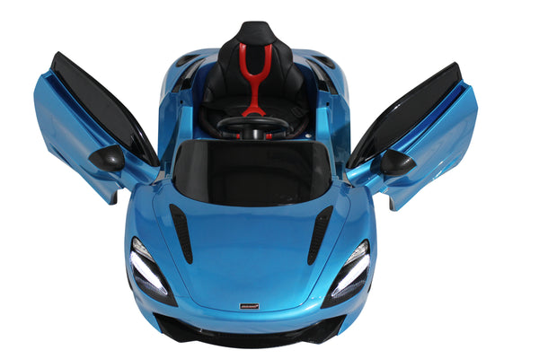 Blue | 12V Licensed Mclaren Kid Car with Lambo Doors and Parental Remote