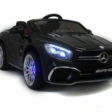 Load image into Gallery viewer, Black | Licensed Mercedes AMG Ride on Car With Touchscreen TV