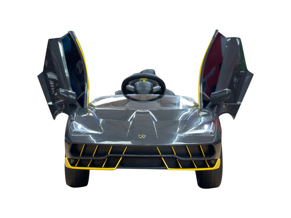 2020 Licensed Lamborghini Centenario Exotic Kids Car with Bluetooth | Charcoal and Yellow