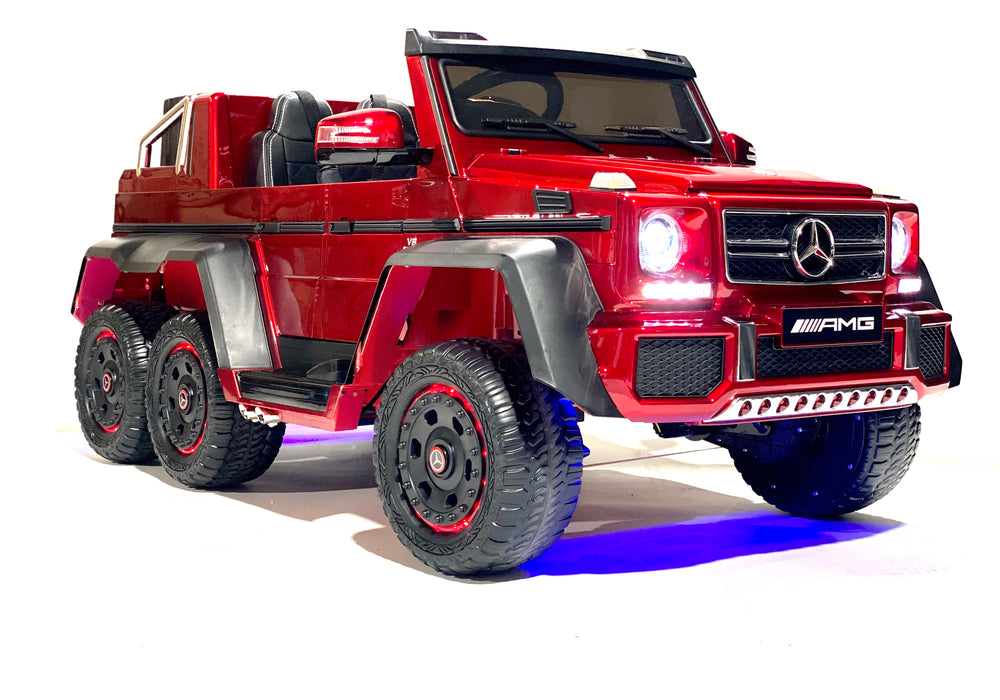 Load image into Gallery viewer, red-mercedes-g63-gwagon-6x6-6wheeldrive-parental-remote-control-12v