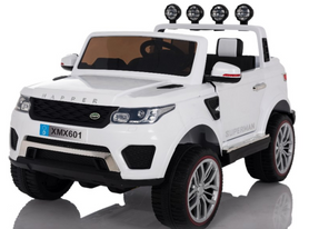 White | 2020 Land Rover RC Electric Ride on Car with touch screen TV