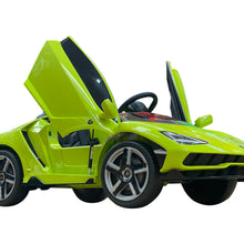 Load image into Gallery viewer, 2020 Licensed Lamborghini Centenario Exotic Kids Car with Bluetooth | Lime Green