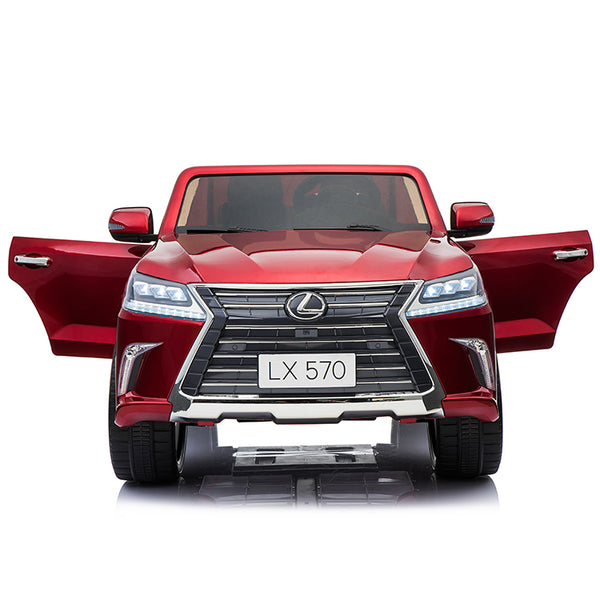 Licensed Lexus LX570 SUV with Toucschreen TV and Parental Remote | Candy Apple Red