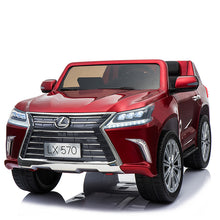 Load image into Gallery viewer, 24V Licensed Lexus LX570 SUV with Toucschreen TV and Parental Remote | Candy Apple Red