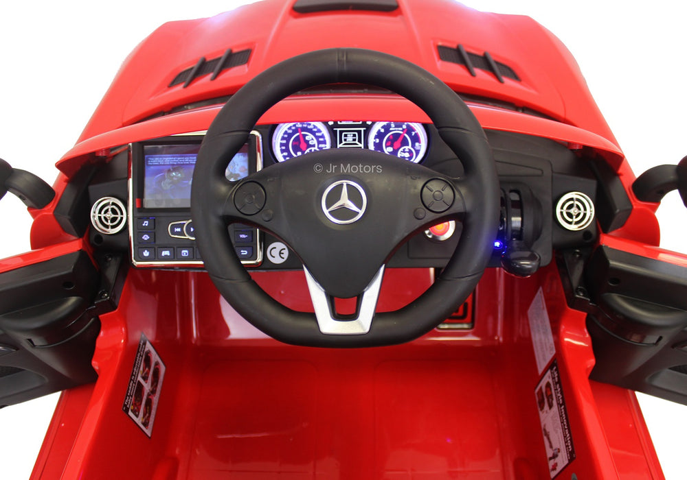 Load image into Gallery viewer, Red | Mercedes SLS with Touchscreen TV, RC, Electric Ride on Car - Shop Remote control kids electric cars & motorcycles