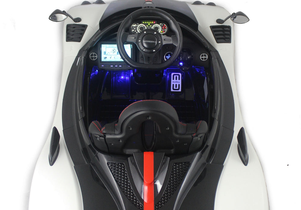 Load image into Gallery viewer, White | 2019 Licensed Pagani Special Edition RC Kids Car with Touchscreen TV - Shop Remote control kids electric cars & motorcycles