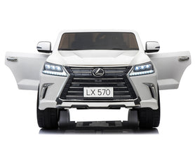 Licensed Lexus LX570 SUV with Toucschreen TV and Parental Remote | White