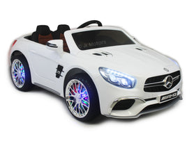 White | Licensed Mercedes AMG Ride on Car With Touchscreen TV