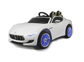 White | Licensed Maserati with Touchscreen TV RC Electric Ride On Car - Shop Remote control kids electric cars & motorcycles