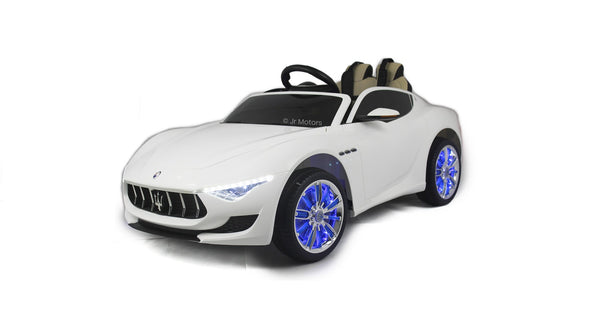 White | Licensed Maserati with Touchscreen TV RC Electric Ride On Car