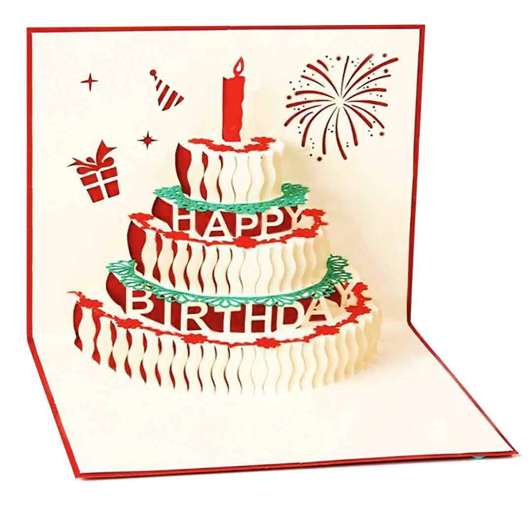 Load Image Into Gallery Viewer Happy Birthday Cake Card