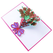 Load image into Gallery viewer, Flower Bouquet Pop Up Card