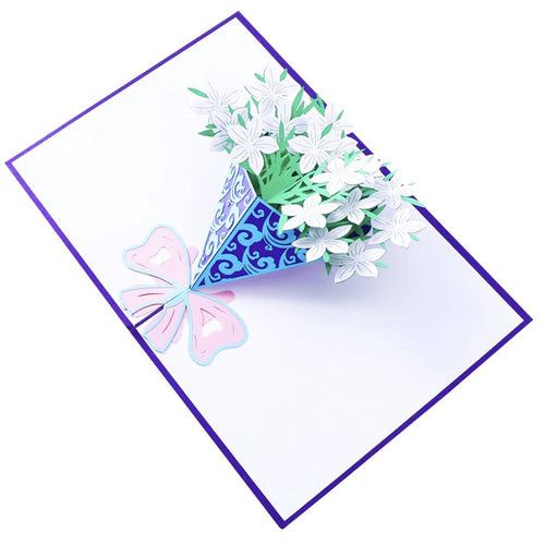 Flower Bouquet Pop Up Card