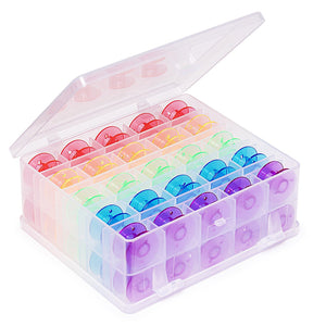 Double Sided Bobbin Box with 50 Bobbins