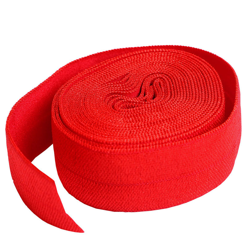Fold Over Elastic 2yd Atom Red
