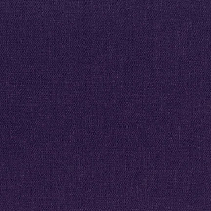 Dark Purple Washable Linen Blend