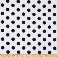 White with Navy Dots
